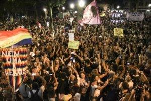 Centro do Rio de Janeiro tomado pelas mulheres durante o 8 de março (foto: Dilliany Justino)