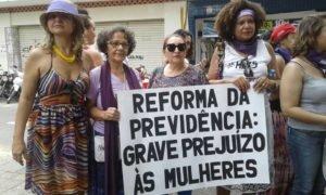 Mulheres realizam ato no Ceará pelo 8 de março (foto: reprodução)